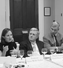 Scholars and policymakers at a 2011 roundtable discussion on Preventing Capture