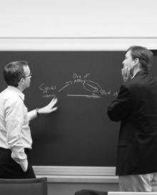 Chris Carrigan and Sandy Gordon discuss ideas for the Preventing Capture volume.