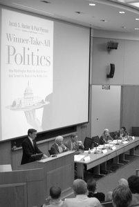 """Jacob Hacker presents his work, with Paul Pierson, on """"Winner-Take-All Politics"""""""